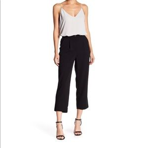 Good Luck Gem black front pleat cropped pant XS